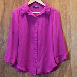 Women's Sheer Fabric A.N.A. Blouse